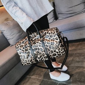 HBP s-border fashion leopard handbag new foreign trade large capacity leopard fitness bag travel bag shopping bag
