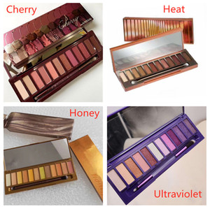 Hot Classic Makeup Palette Heat Cherry Ultraviolet honey 12colors Eye shadow mix NUDE eyeshadow palette High Quality