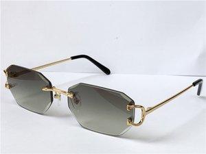 selling vintage sunglasses irregular frameless diamond cut lens glasses retro fashion avant-garde design uv400 light color decorative eyewear 0103