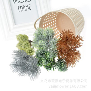 Pine Branches and Leaves Bur Model Welcoming Pine Tree Fake Tree Decoration Bonsai Accessories Ball Beauty