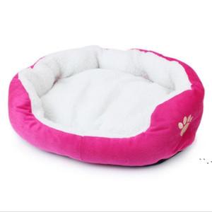 الحيوانات الأليفة الكلب عش السرير سوبر لينة الحيوانات الأليفة سرير بيت الكلب جولة القط الشتاء الدافئ كيس النوم جرو وسادة ماتس الكلاب pet acesorios BWC6553