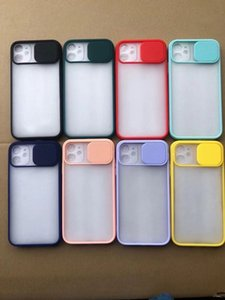 colorful Contrast Color Matte TPU + PC 2in1 0.3mm Skin-friendly Push Camera Widown Cover Case for all the smart phone