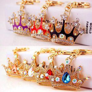 Crystal Crown Bag Keychain Jewelry Rhinestone Keyring For Car Charm Keychain Creative Gift 7 styles