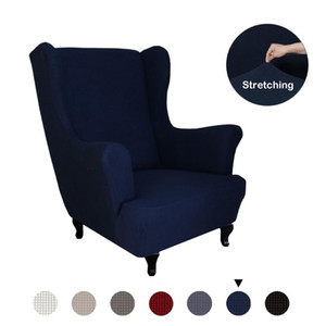 Polyester Fiber Armchair Cover All-inclusive Sloping Arm Wingback Sofa Chair Cover Tiger Sofa Back Chair Covers Home Decor