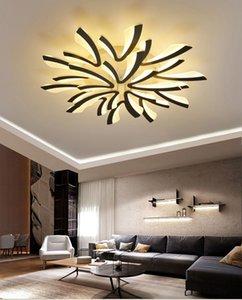 Led ceiling light for living room bedroom White Black Simple Plafond lamp home lighting fixtures AC90-260V