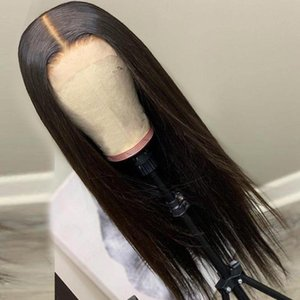 Lace Wigs 4X4 Wig Pre Plucked Brazilian Remy Long Straight Human Hair Glueless Closure 150% 8-36 Inches