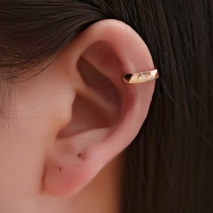 Trendy Solid Gold Cartilage Earrings Geometric Circle Ear Cuff Durable Purpose Simple Clip Earrings Without Piercing