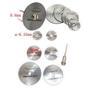 6 шт. HSS SAW DISC RUDING RUDING BLADES для сверла Поворотные инструменты + Оправельные циркулярные пилы для резки колесных дисков