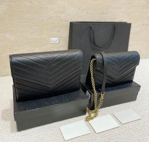2021 Luxurys Designer Retro Kadın Zincir Zarf Çanta Kadın Omuz Çantaları Lüks PU Deri Crossbody Çanta Büyük Tote Bayan Çanta