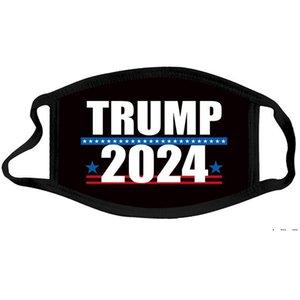2024 Masque d'élection Trump Election présidentielle Trump Masque Visage de visage Adulte Coton Poussière lavable lavable masque 10 Styles EWA3866