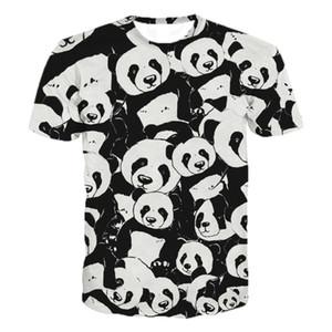 2020 Summer Children 3D Anime T-shirt Kids Lovely Animal Panda Printed T Shirt Boys Girls Fashion Tshirts Tops L0223