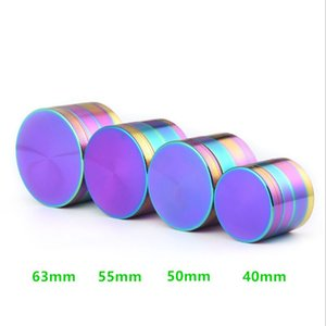 40 MM Flat Zinc Alloy Smoke Grinder Colorful Ice Blue Cigarette Grinder Manual Metal Smashing Tobacco Smoke Accessories UPS Free Freight HB