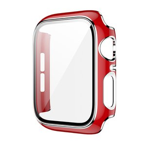 For Apple Watch iWatch Series 6 5 4 3 SE 38 42 40 44mm Case Slim Hard PC Tempered Glass Full Screen Protector Cover
