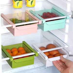 Plastic Kitchen Shelf Household Refrigerator Storage Holders Drawer Storage Rack Space Saving Drain Rack 4 Colors FWF5103