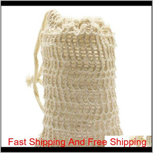 30 Pack Natural Sisal Soap Bag Exfoliating Soap Saver Pouch Holder Kitchen Sto qylaij bde_luck