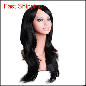70cm Loose Wave Synthetic Wigs For Women Cosplay Wig Blonde Blue Red Pink Grey Purple Hair For Human Party For H qylLGk homes2011