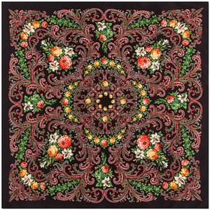 New * 100cm Bohemian flower Xinjiang headscarf women's square silk scarf