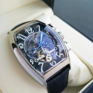 Frank- Muller- 탑 브랜드 럭셔리 남성 시계 FM Tourbillon AutomaticQuartz 시계 남성 방수 비즈니스 기계적 손목 시계 C0227