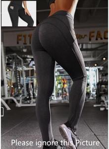 Bandeaux Gratuits Femmes Pantalon Yoga avec poches Haute Taille Sports Sports Gym Port Leggings Fitness élastique Dame Globalement Collant complet Entraînement