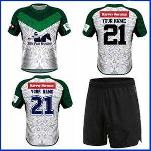 2021 Maori Tüm Yıldız Ev Rugby Jersey 2022 Maori Tüm Yıldız Rugby Eğitim Şort Jersey Boyutu S-3XL-5XL
