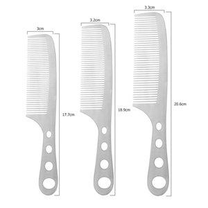 Kuaför Salonu Saç Fırçası Saç Kesme Tarak Pro Salon Saç Bakımı Şekillendirici Aracı Alan Alüminyum Anti-Statik Tarak