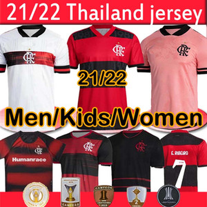 NUEVO 2021 2022 Camisetas de fútbol Flamengo Diego Gabriel B. de Arrascaeta B.Henrique Gerson E.Ribeiro 2020 2021 Hombres niños Kits de mujer Jersey Camisetas de Fútbol