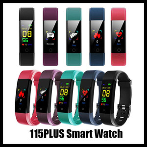 115 plus Sport Fitness Smart Wristband fitness tracker Watch Health Heart rate band Smart Bracelet for Men Women roid Cellphones with Box