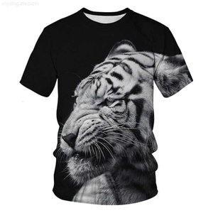 2019 new men summer designer shirt breathable o-neck 3d printed animal luxury shirts men-s-clothing funny tiger shorts plus size t