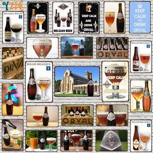 Yzfq bélgica cerveza metal vintage signos decorativos bar bar casa restaurante cocina hombre cueva decoración vintage 30x20cm du-9029a q0308