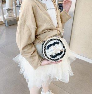Леди стиль девушки хлопчатобумажные льняные плед односпальные сумка детская буква металлическая цепь мессенджера сумка дизайнер женщины мини-кошельки A4843