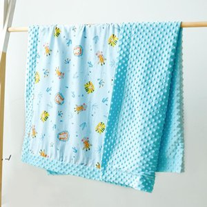 Baby Minky Blankets Toddler Nap Blanket Cartoon Newborn Stroller Sleep Cover Infant Bedding Quilt Swaddling Wrap DWA9433