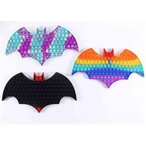 Halloween Rainbow Children's Pioneer Bat Fidget Toys Push Poppers Bubbles Educational Toy Hallowmas Tie-Dye Kids Anti Stress Relief Game G91ZTAE