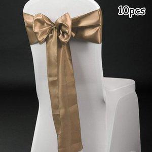 """7 """"X108"""" Poltroncini per sedie con copertura satinata Banchetto di nozze Banchetto da sposa Forniture per feste"""
