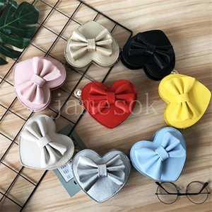 Kids Handbag Fashion Heart Shape Bowknot Cross-body Bags Baby Girls Candies Messenger Bags Coin Purses Travel Bags Party Favor DB506