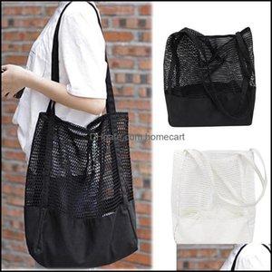 Shop Bags, Lage & Aessoriesshop Bags Pattern Womens Handbag Mesh Hollow Out Sandy Beach Package Large Capacity Sho Single Shoder Bag Drop De