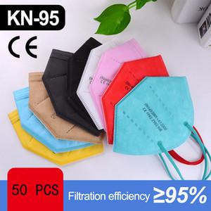 Masque jetable KN95 Masque Masques de tissu de la bouche KN95 Masque Visage Visable Visage Jetable Masques Bouche Rouge Bleu Blanc Coton