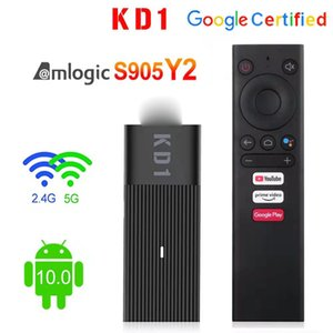 New arrival Android 10.0 Mini PC KD1 Amlogic S905Y2 Quad Core 2GB 16GB 1080p 2.4G 5Gwifi&bluetooth4.2 TV Dongle Stick BB