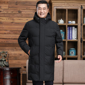 Down Jacket, Take Off Cap, Men's Mid Long Warm Anti Season Coat, 2021 New Winter Thickened Coat