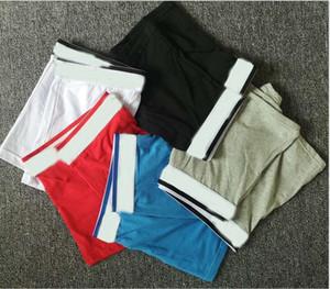 5 pçs / lote Novo Boxer Mens Underwear Shorts Moda Sexy Underwear Homem Bureza Respirável Masculino Gay Calzoncillo Boxer Breve Short Sem Box