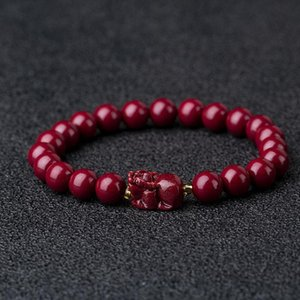 Beaded, Strands Natural Cinnabar Bracelet To Ward Off Evil Spirits And Transfer Nafu Men Women With The Same Jewelry