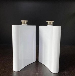 Blanks Sublimación Frasco Hip Frasco de acero inoxidable Botella de agua Doble Pared DIY Amante Tumblers al aire libre Tabelware 8oz Sea Shipping 2021