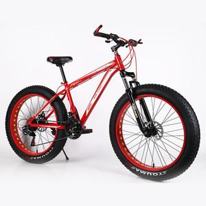 Vélo de la plage de VTT de la montagne 26 * 4.0 Frein du pneu MTB Frein à disque Snow Mobile Plus Large Tire Absorption de montagne Vélo de montagne