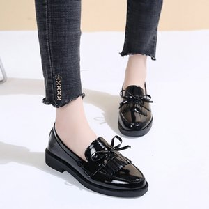 Spring Autumn Woman Oxford Pointed Toe-to-toe Office Patent Leather Low Heels Shoes Brogue Dfg567 Ibze