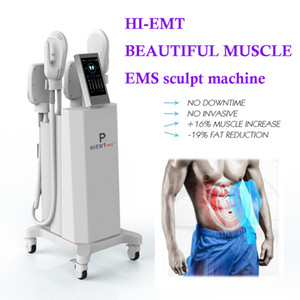 New technology emslim slimming emslim muscle slim HIEMT ems sculpt machine 4 handles 2 years warranty free shippment