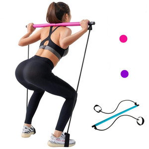 Yoga Exercise Workout Fitness Resistance Bands Bolster Stretch Belt Aid Gym Pilates Training Body Shaping Equipment Rope