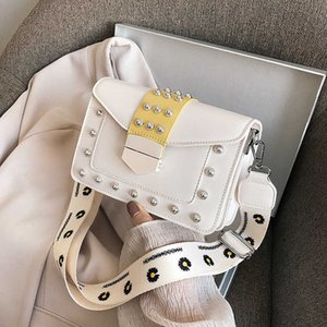 Women's summer 2021bags new trend broadband versatile one shoulder bag horizontal style square contrast oblique MZO8