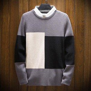 2021 wo pieza jersey camisa collar camiseta suéter otoño tendencia suéter nuevos hombres otoño e invierno vacaciones t