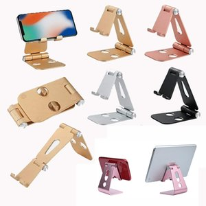 Universal Aluminum Adjustable Foldable Cell Phone Tablet Desk Mount Stand Holder for iPhone iPad Samsung Xiaomi