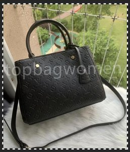 LUXURYS Designers Bolsos Bolsos Montigne Bag Women Tote Marca Letra Refsing Genuine Cuero Bolsos de Hombro Crossbody Satchel N41056