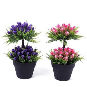 Idyllic Simulation Plant Flower Flower Pianta in vaso Impianto Indoor Decoration Green Piccoli Bonsai Ornamenti Decorazione Bonsai